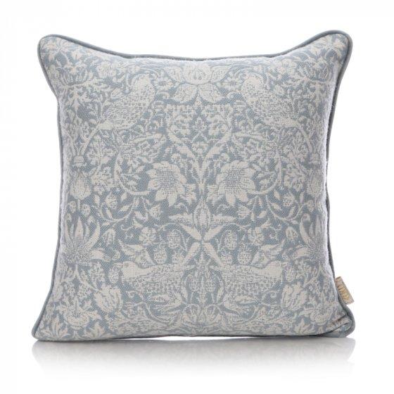William Morris Cushion - Blue Strawberry Thief Cushion