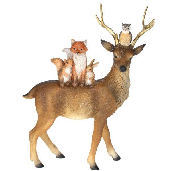 Gisela Graham Reindeer with Animals Standing