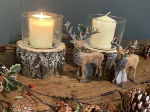 Gisela Graham Christmas Log Candle Holder
