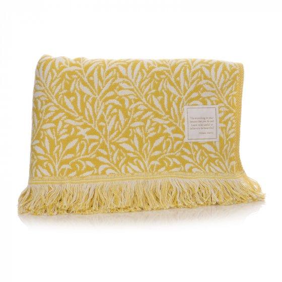William Morris Blanket - Ochre Yellow Willow design