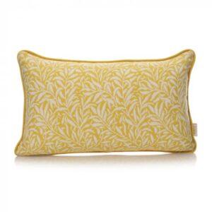 William Morris Cushion - Ochre Willow Pattern Cushion