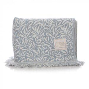 William Morris Blanket - Willow Blue design