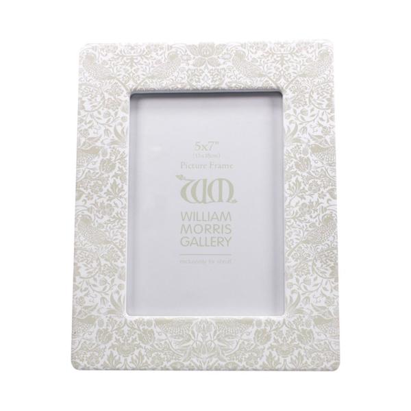 William Morris Gift - Strawberry Thief Grey Photo Frame