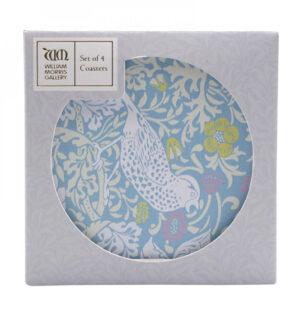 William Morris Gift - Blue Strawberry Thief Coasters